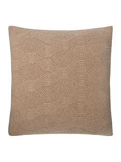 Verona geometric knit cushion