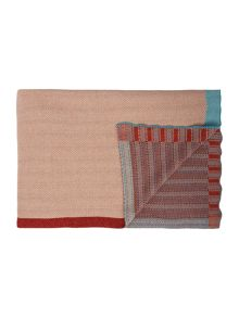 Living by Christiane Lemieux Cotton knit chevron blanket