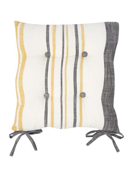 Gray & Willow Yellow stripe seat pad