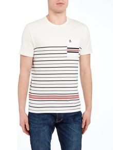 Original Penguin Striped Winston Crew Neck T-shirt
