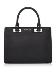 Michael Kors Quinn black medium tote bag