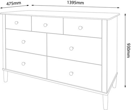 Linea Felix 4+3 Drawer Chest