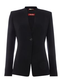 Max Mara Humour button front long sleeve blazer
