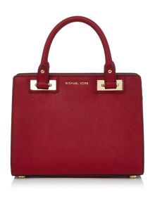 Michael Kors Quinn red small tote