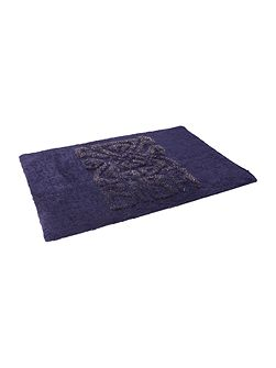 Logo bath mat navy