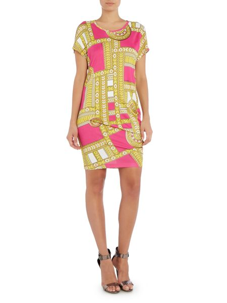 Versace Jeans Printed asymmetric hem dress