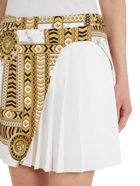 Versace Jeans Printed layer short skirt