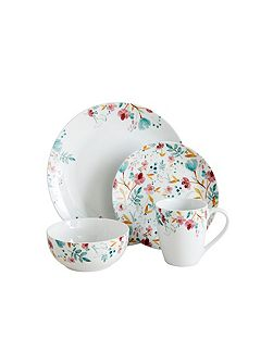 Meadow 16pc porcelain dinner set