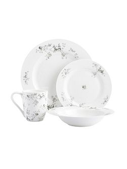 Eden rose fine bone china 16pc dinnerware set
