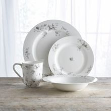 Shabby Chic Eden rose fine bone china 16pc dinnerware set