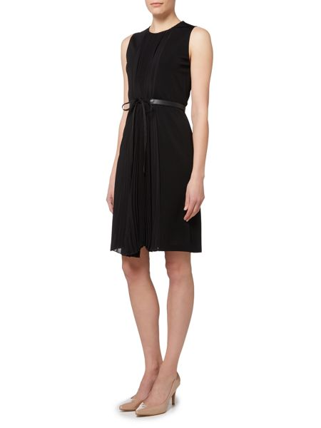 Max Mara Marche sleeveless pleated dress with belt