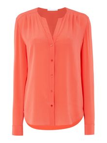 Hugo Boss Rosaline V Neck Washed Silk Blouse