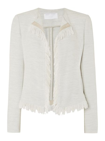 Hugo Boss Komina Lightweight Fringe Trim Jacket