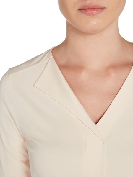 Hugo Boss Eskel Half Sleeve Satin Fold Jersey Top