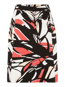 Hugo Boss Viphima Printed A Line Skirt