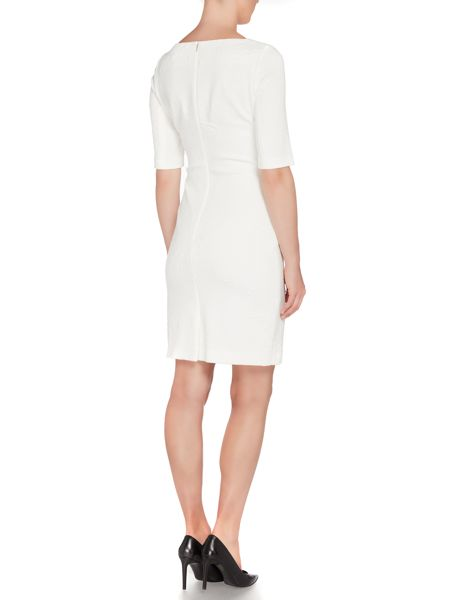 Hugo Boss Hiwinna Embroidered Stretch Dress
