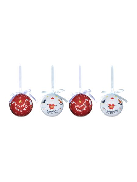 Linea Set of 4 Frosty Baubles