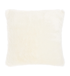 Linea Luxe Faux Fur Cushion, Cream