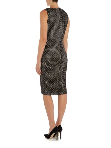 Max Mara Eritea sleeveless boucle v neck dress