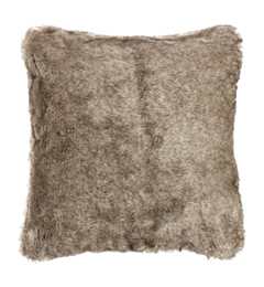Linea Dark Grey Faux Fur Cushion