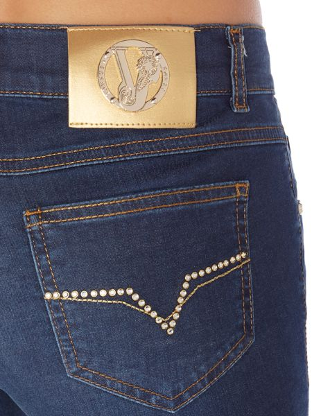 Versace Jeans Jeggings with sparkle pockets