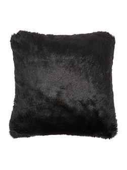 Luxe faux fur cushion, black