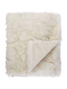 Biba Long white faux fur throw