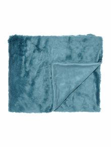 Biba Teal faux fur throw