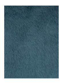 Biba Teal faux fur cushion