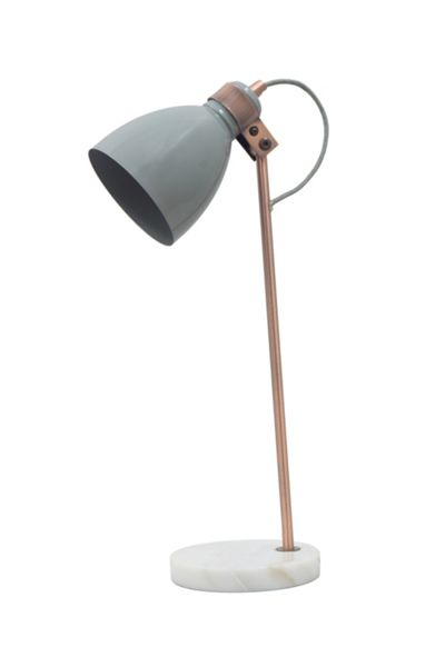 Gray & Willow Cody Marble and Copper Table Light