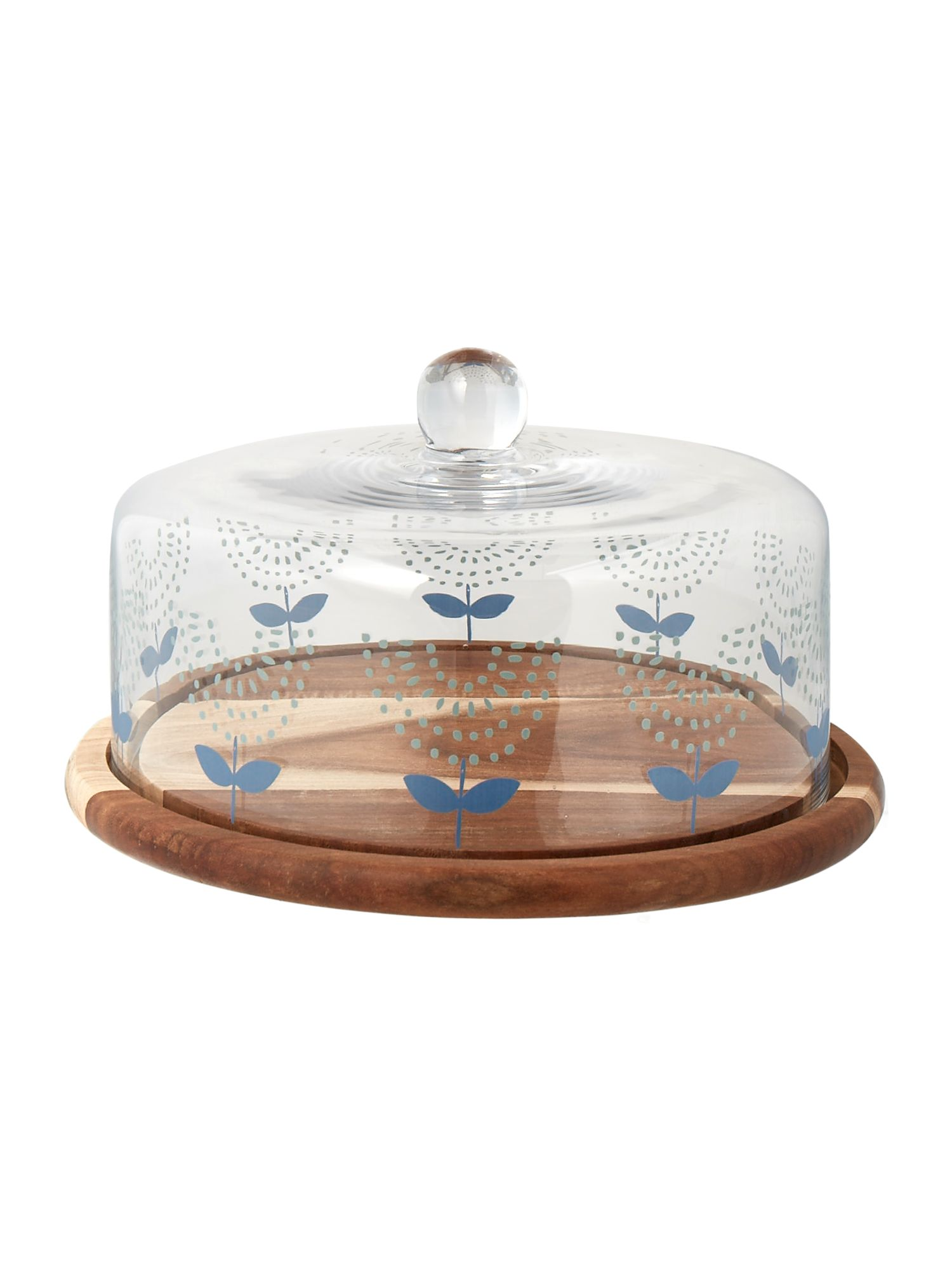 Image of Dickins & Jones Acacia cake stand with dome