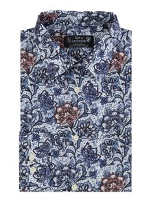 New & Lingwood Bosworth Print Shirt