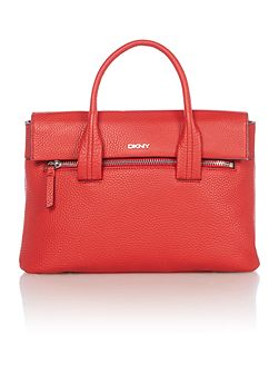 Tribeca red flapover tote cross body bag