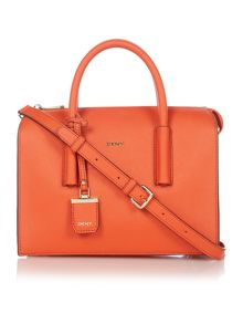 DKNY Saffiano orange tote cross body bag