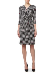Max Mara Bino wrap printed jersey dress