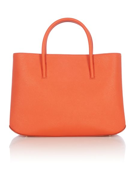 DKNY Saffiano orange city tote crossbody bag
