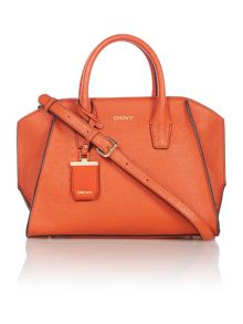 DKNY Saffiano orange tote crossbody bag