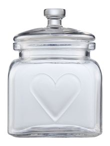 Linea Small heart jar