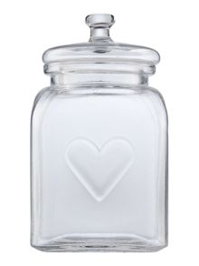 Linea Large heart jar