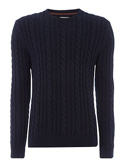 Antoine Cable Knit Crew Neck Jumper