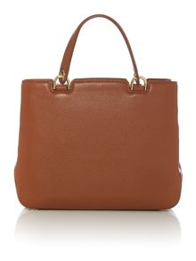 Michael Kors Anabelle tan medium top zip tote bag