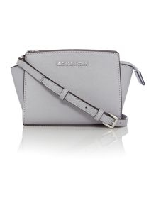 Michael Kors Selma grey mini cross body bag