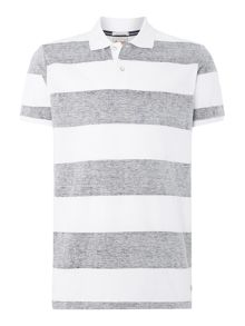 Jack & Jones Marl Stripe Short Sleeve Polo Shirt