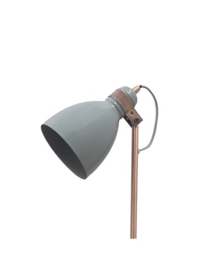 Gray & Willow Cody marble and copper floor light