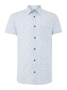 Jack & Jones All Over Shark Print Short Sleeve Shirt