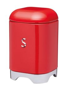 Kitchen Craft Lovello Sugar Canister Red
