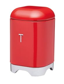 Kitchen Craft Lovello Tea Canister Red