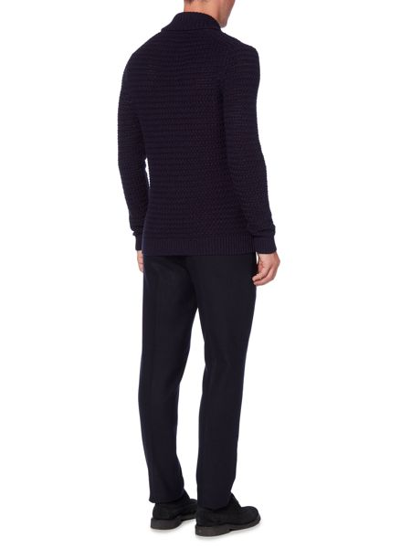 Linea Nouvel Shawl Neck Textured Jumper