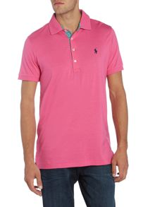 Polo Ralph Lauren Golf Slim Fit Gingham Contrast Pique Polo