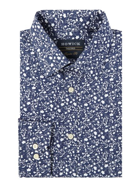 Howick Tailored Boston floral print classic shirt